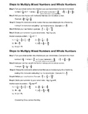 5 steps for multiplying mixed numbers and whole numbers (f