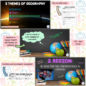 5 themes of geography INTERACTIVE!!!!