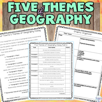 Five Themes of Geography Essay