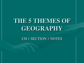 5 themes of geography ppt intro