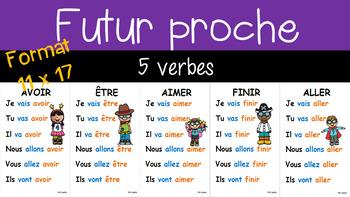 5 verbes au futur proche - 11 x 17 - 2e cycle