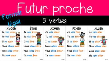 5 verbes au futur proche - 8½ x 14 - 3e année