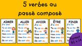 5 verbes au passé composé - 8½ x 14 - 2e cycle