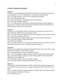 5 week Creative Writing Unit