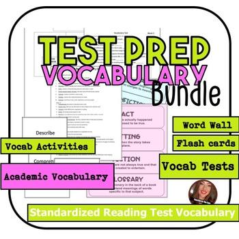 5 week Test Prep Reading Vocabulary Bundle 3-5Th GRADE