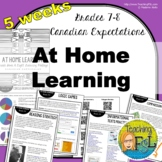 5-week bundle - At Home Learning Lessons - Gr 7/8 Canada