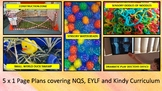 5 x 1 Page Plans for NQS, EYLF and Kindy Curriculum