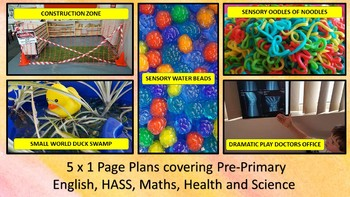 5 x 1 Page Plans for Pre-Primary