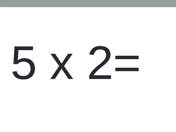 5 x Multiplication Flash Cards ppt