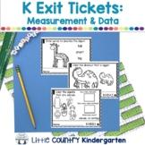Kindergarten Math Exit Tickets: Measurement & Data