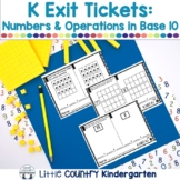 Kindergarten Math Exit Tickets: Number & Operations in Base Ten