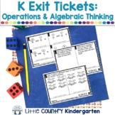 Kindergarten Math Exit Tickets: Operations & Algebraic Thinking