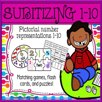 Subitizing Activity Pack with Puzzles, Matching Games, Flash Cards