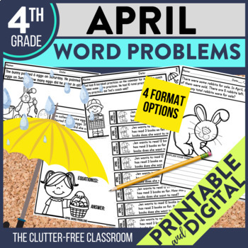4th GRADE APRIL WORD PROBLEMS