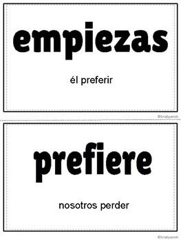 Present Tense E IE Stem Changing Verbs ¡Corre en Círculos!