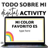 All About Me Todo Sobre Mi Spanish and English DIGITAL Activity