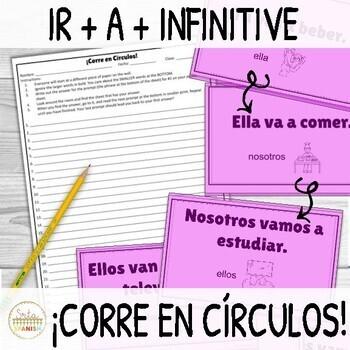 Ir A Infinitive ¡Corre en Círculos! Activity