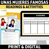 Women's History Month Introductions in Spanish Reading Comprehension Activities