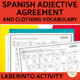 Spanish Adjectives and Nouns Agreement Laberinto Practice Activity