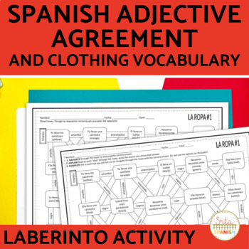 Spanish Adjectives And Nouns Agreement Teaching Resources