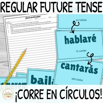 Spanish Future Tense Regular Verbs ¡Corre en Círculos! Activity
