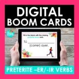 Preterite ER and IR Verbs Spanish BOOM CARDS | Digital Cards