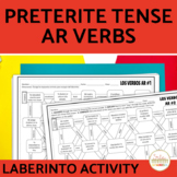 Preterite Regular AR VERBS Spanish Maze Practice Activity with DIGITAL Option
