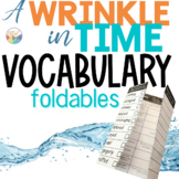 A WRINKLE IN TIME Novel Study VOCABULARY Paper Foldables   NO PREP!