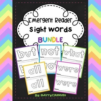 Emergent Reader Sight Words BUNDLE (but, not, what, all, and were)