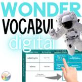 WONDER Novel Study VOCABULARY Google Slides and Powerpoint Slides