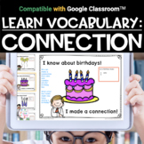 Academic Vocabulary MAKING CONNECTIONS | Distance Learning