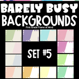 Digital Template Backgrounds | Barely Busy Backgrounds SET 5