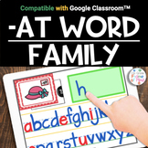 Google Classroom™️ | -AT Word Family CVC | Distance Learning