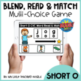 Short O CVC Word Blend, Read and Match Boom Cards | Distan