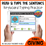 50% 48 HRS Thanksgiving Read & Type the Sentence Boom Card