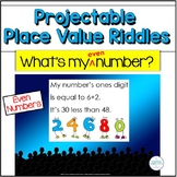 Place Value Projectable Riddles Two Digit Numbers