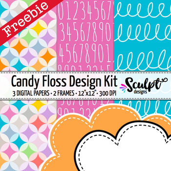 Candy Floss Design Kit Freebie ~ Digital Papers & Frames
