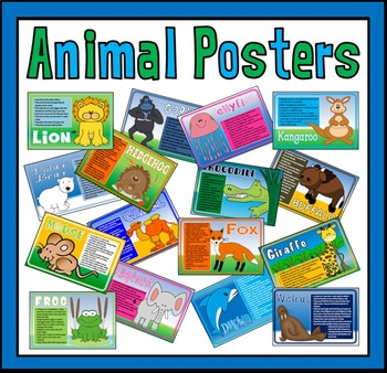 50 A4 ANIMAL FACTS POSTERS -DISPLAY EARLY YEARS KS1 SCIENCE