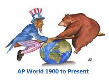50 AP World Stimulus Multiple Choice Questions Period 6-  1900 to the Present