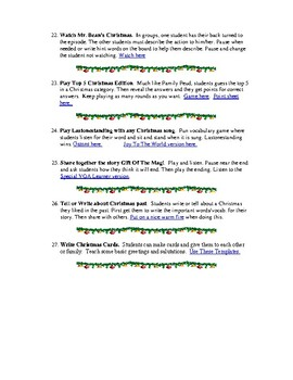 50 Activities For The Holidays - ESL / EFL