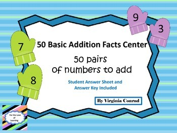 Addition Facts Winter Theme
