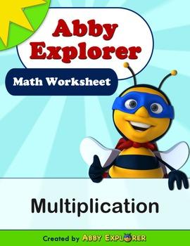 Abby Explorer Math - 50 Advanced Multiplication Problems