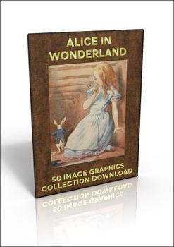 50 Alice in Wonderland Book illustrations to use for anything!