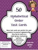 50 Alphabetical Order Task/Flash Cards - Partners, Small Group, Intervention