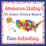 US Geography 50 American States 9 Activities with Choice B