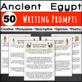 Ancient Egypt- 50 Writing Prompts/Journal Entries