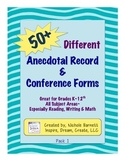50+ Anecdotal Record & Conference Forms
