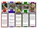 50 Animal Fact Bookmarks