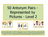 50 Pairs of Antonyms Represented by Pictures - Level 2 (K,