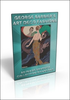 50 Art Deco George Barbier illustrations to use for anything you like!